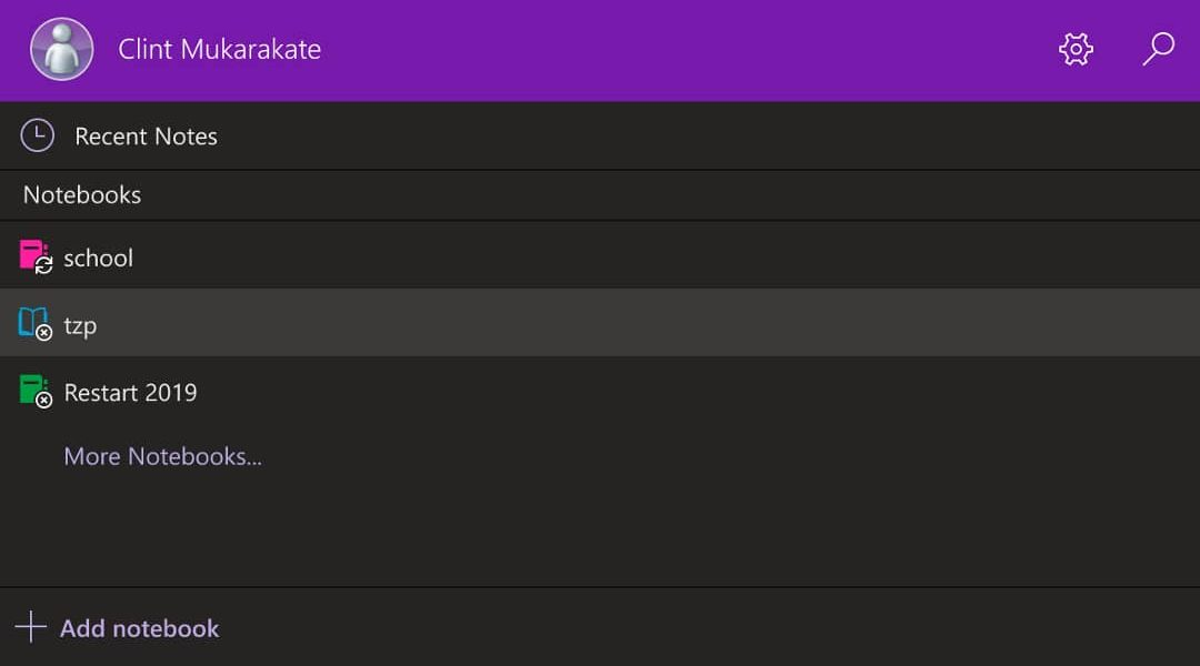 OneNote Dark mode reminds me if what Windows Phone was meant to be